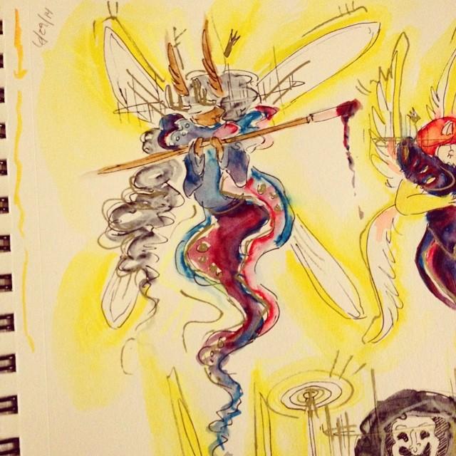 Piccalo Muse Sketch