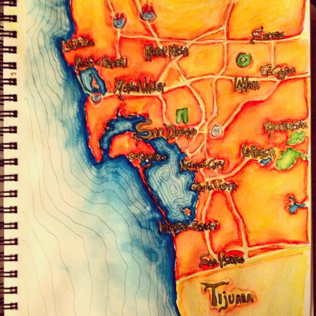 San Diego and Tijuana