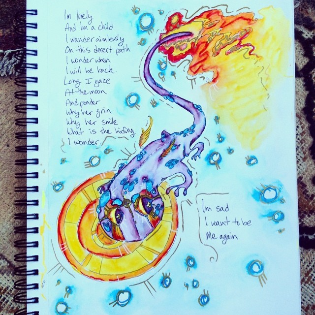 Salamander and Poem