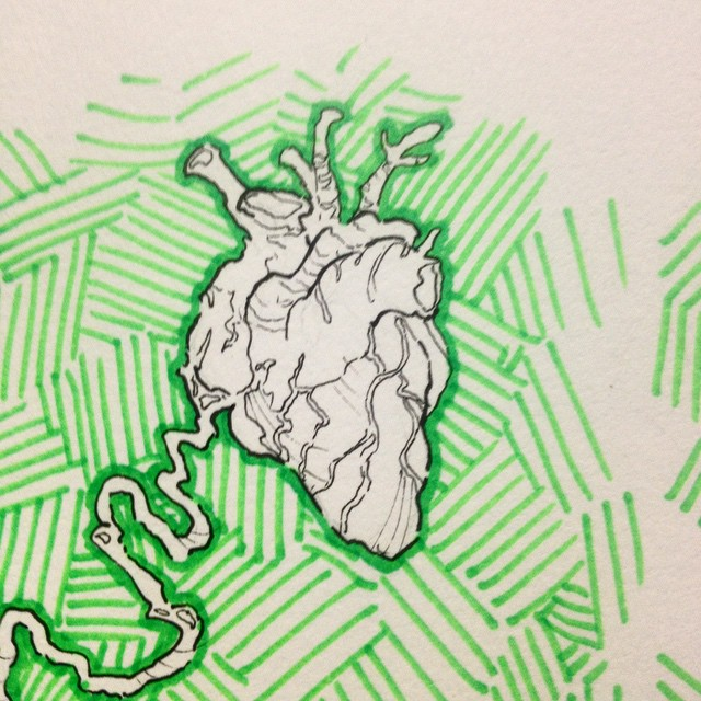 Anxiety Rabbit Concept - Heart Detail